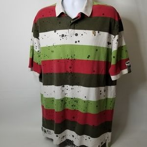 Rocawear Polo Shirt Big and Tall 2XL Great Graphic